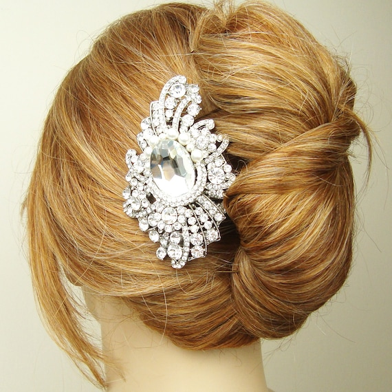 Victorian Style Wedding Hair: Items Similar To Large Vintage Style Wedding Hair Comb