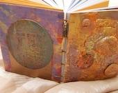 Handmade sketch art Journal - Gold
