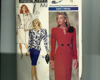 Vintage Butterick Misses' Jacket and Dress Pattern 6959