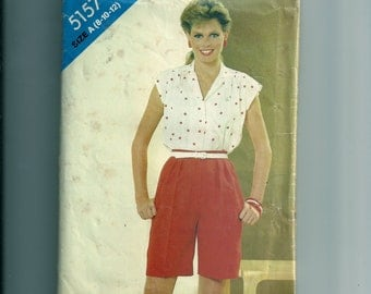 See & Sew Misses' Blouse and Shorts Pattern 5157