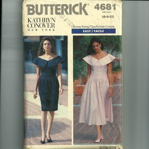 Vintage Butterick Misses'/Misses' Petite Dress Pattern 4681