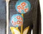 LAST ONE Liberty Lollipop Hoodie Charcoal Gray, Applique, Medium