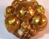 Gold Plated Bubble Bead - Handmade Lampwork Glass Beads - Focal