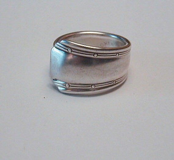 Silver Spoon Ring Recycled Silverware Jewelry  Sunrise Pattern Made to Order