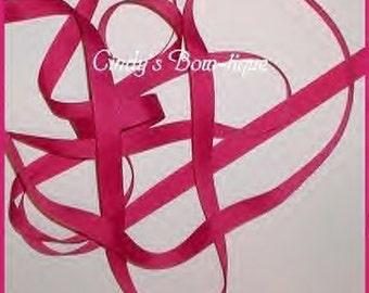 Solid Magenta Ribbon Grosgrain Dark Pink 5 y 5/8 w Offray Azalea cbonefive