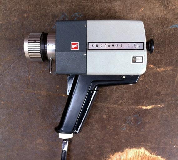 vintage gaf anscomatic st 87 super 8 camera 8mm film video. Black Bedroom Furniture Sets. Home Design Ideas