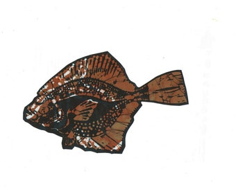 earthy brown flounder patch