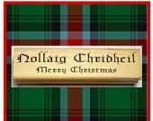 Scottish Christmas Bilingual Rubber Stamp Scottish Gaelic Nollaig Chreidheil