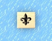 Fleur-de-lis 1 small, mounted rubber stamp No.13