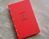 1965 - Large Coptic Journal - Red Upcycled Vintage Blank Book - The Mandelbaum Gate - Initials MS - 240 unlined pages - Ready To Ship