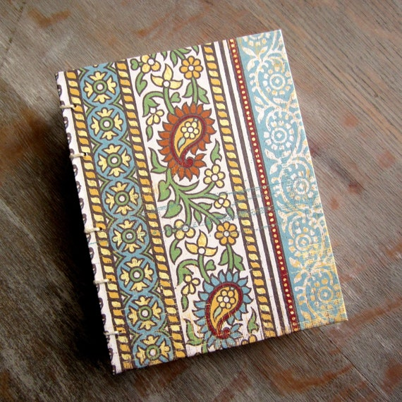 Spring Coptic Travel Journal -  288 unlined pages - Ready to Ship