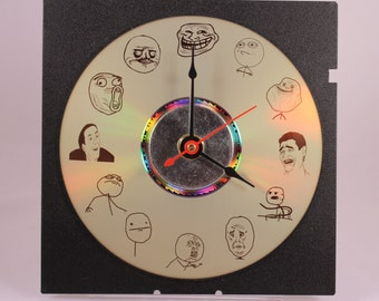 Laser Etched Rage Guy Comic Meme Clock