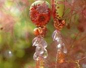 sun streams - playful and lush gemstone earrings