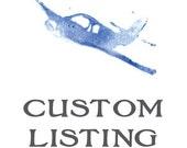 Custom Order for Christina Hughes