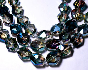 Transparent Blue Crystal Nuggets