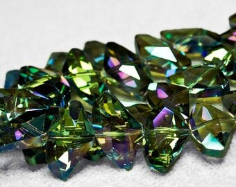 Veridian Sparkle II- faceted crystal beads