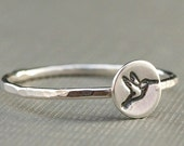 Hummingbird Ring , Hummingbird Jewelry , Sterling Silver Ring
