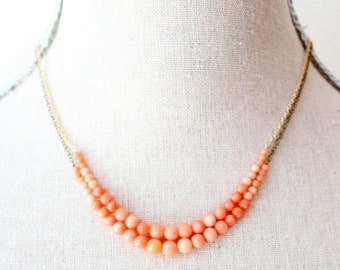 Coral Strand Gemstone Necklace