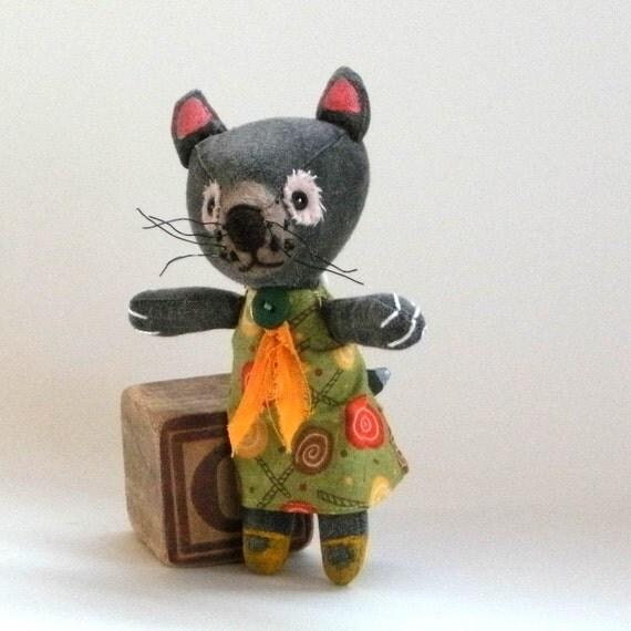 reserved for RG Christine the Tasmanian devil, cloth art doll