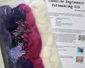 Felt Making Kit Purple Mauve Cerise Theme Colour
