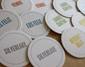 LOS ANGELES Letterpress Neighborhood Coasters (Pack of 10)