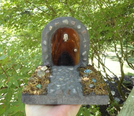 SALE, The Forest Floor, Reserved Listing, 3D Fairy Door, Hobbit Door, Stained Glass Mosaic, Woodland Sculpture