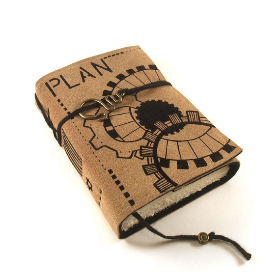 Journal, Leather, Suede, Plan