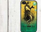 iphone 6 case iPhone Case La Sirena Mexican Loteria iPhone 4 and 4s Mermaid - iPhone 5 Case - Galaxy s3 s4 s5