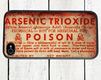 Arsenic Poison Label Phone Case for  iPhone 4 4s 5 5s 5c SE 6 6s 7  6 6s 7 Plus Galaxy s4 s5 s6 s7 Edge