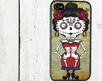 Senorita Day of the Dead Phone Case for  iPhone 4 4s 5 5s 5c SE 6 6s 7  6 6s 7 Plus Galaxy s4 s5 s6 s7 Edge
