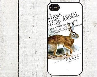 iphone 6 case Vintage Rabbit iPhone Case - iPhone 4 and 4s - iPhone 5 Case - Woodland - Galaxy s3 s4 s5