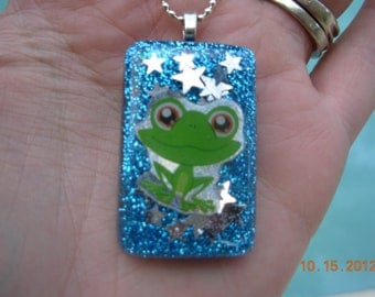 CLEARANCE-Le Ribbitt Resin Necklace
