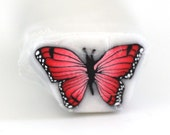 Red Butterfly, Butterfly Cane, Polymer Clay Cane e418