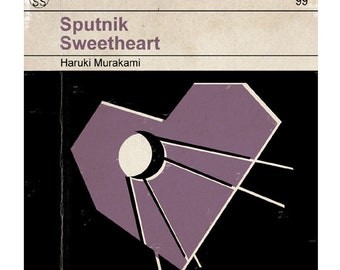6x6 Sputnik Sweetheart - Classic Vintage Book Cover Print