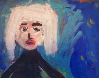 "Original Painting, ""Happy Little Girl"""