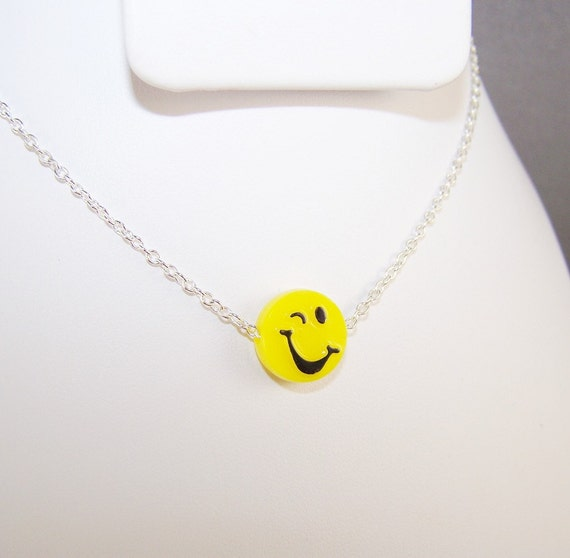 Girl's Happy Face Necklace