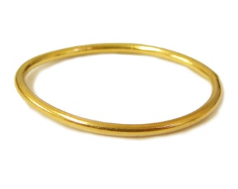 Mini 22K solid gold ring, a great stacking ring at 1mm wide