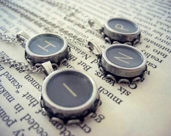 Antique Typewriter Key Necklace