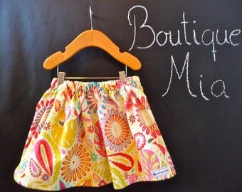 BUY 2 get 1 FREE - Skirt - Dena Fishbein - Paisley - Pick the size Newborn up to 14 Years by Boutique Mia