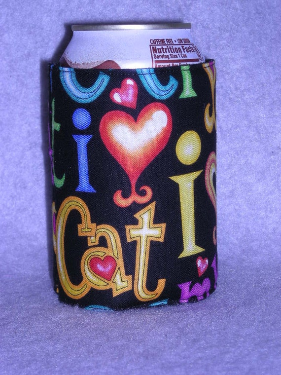 I Love My Cat can or Water Bottle cozie