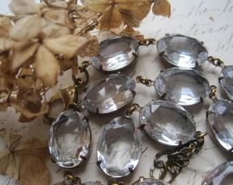 Anna Wintour necklace, collet necklace, rhinestone statement necklace, diamond necklace, Jane Austen, georgian jewelry. Clarity~