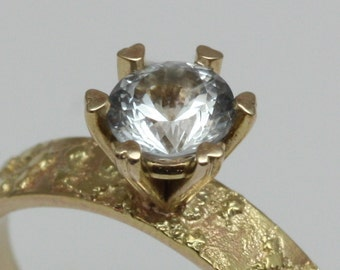 14k gold engagement ring, stone of your choice