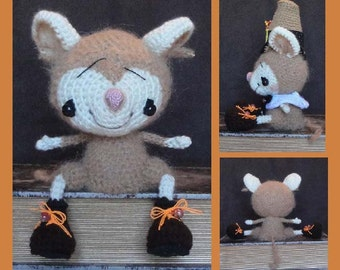 Digital PDF Mouse Crochet Pattern Boy & Girl Mice Dolls for Everyday or for Thanksgiving