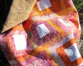 Lollipops and Sherbert - Bright, Fun, Modern Lap Quilt