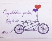 Sweet wedding card for bicycle lovers. Enjoy the ride.