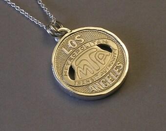 Los Angeles MTA Token Necklace