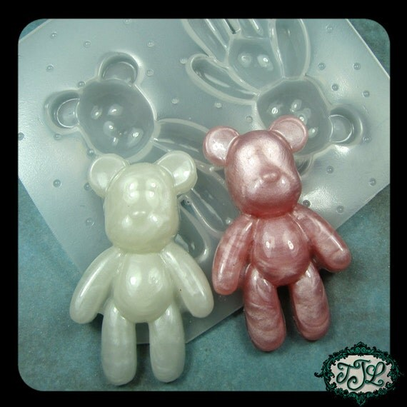 resin MOLD Full Body TEDDY BEAR 56x34mm also works with soap, candle wax, and clay