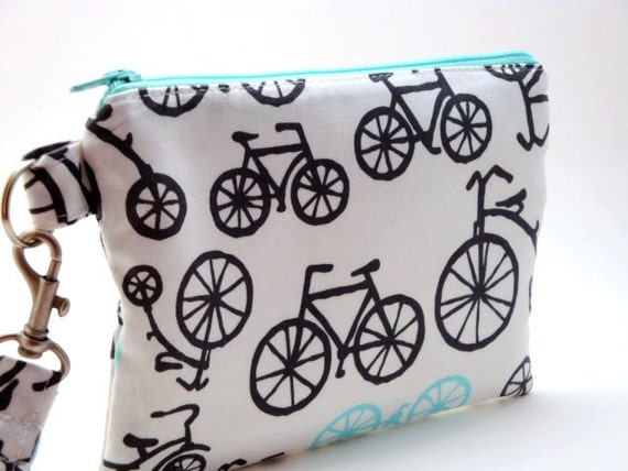 Zippered Wristlet with Detachable Wrist Strap-Michael Miller Fabric