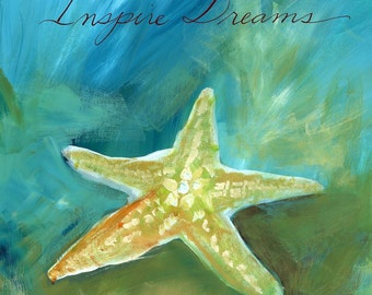 Dreamy Shells II: Inspire Dreams Starfish Print