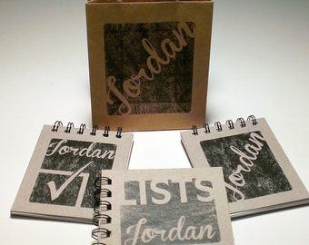 Personalized Notepad Set -  3 Notepads with Matching Gift Bag